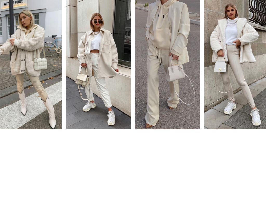 outfit colore bianco sporco
