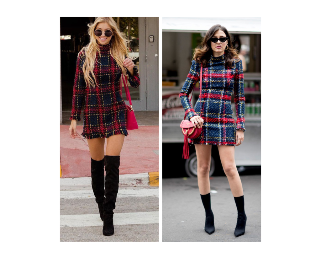 outfit feste natalizie completo in tartan