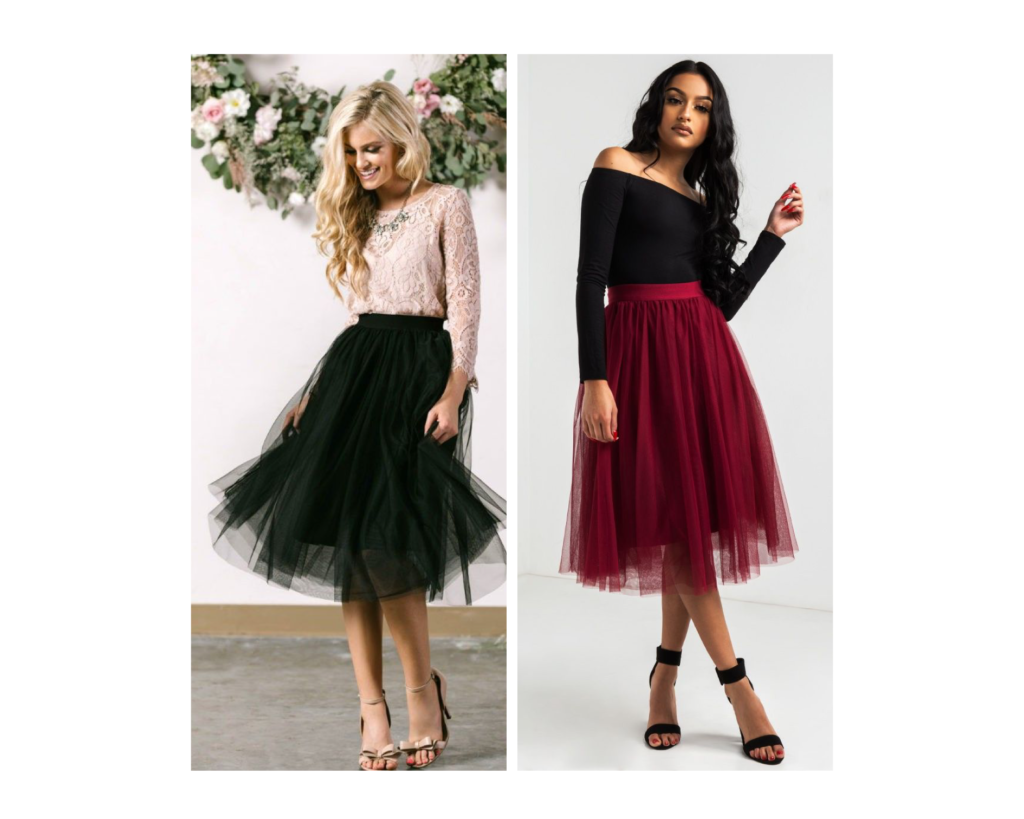 Idee look Natale con gonna in tulle